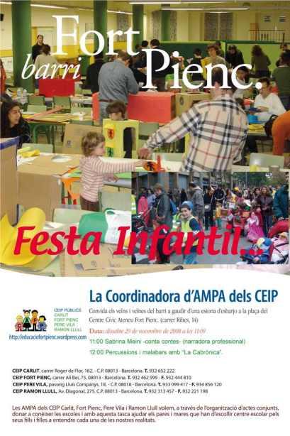 Cartell Festa Infantil 29 de novembre